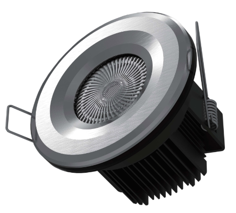 10w Smart Fire Rated LED Downlight with variable colour temperature, dimming and RGW halo feature