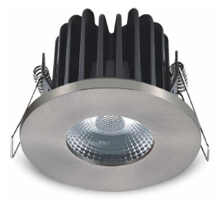 83mm diameter 8w Fire Rated Round Fixed Downlight - IP65 rated