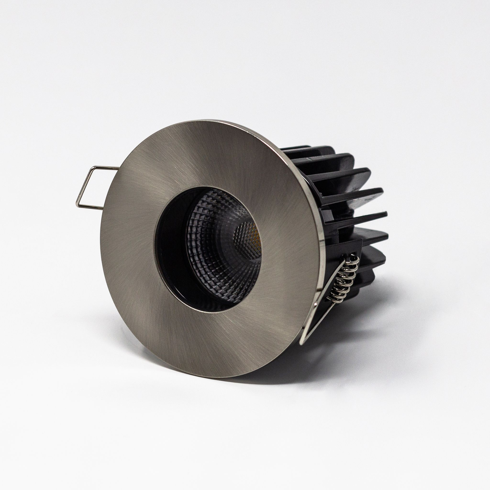 83mm diameter 8w Fire Rated Round Fixed Low Glare  Downlight - IP65 rated